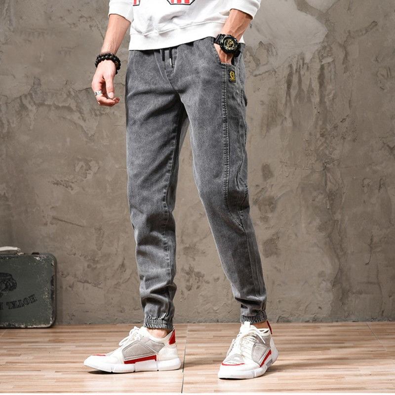 Elastic Jeans Men's Spring And Summer Casual Leggings Korean Version Of The Trend Harlan Cowboy Overalls