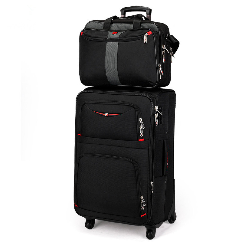 Swiss army knife universal wheels trolley luggage travel bag soft box male luggage oxford fabric bags luggage password box sets