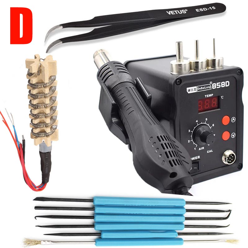 NEW 220V 858D Hot Air Gun ESD Soldering Station LED Digital Desoldering Station 700W heater gun Upgrade from 858D REPAIR TOOL hot air gun host does not include accessories 700w youyue 858d esd soldering station heat gun desoldering station host