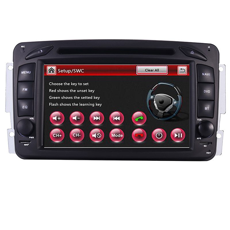 Image 2 - 2din 7 inch CAR DVD PLAYER For Mercedes Benz CLK W209 W203 W208 W463 3g GPS Bluetooth Radio Stereo Car Multimedia Navi System-in Car Multimedia Player from Automobiles & Motorcycles