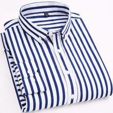 Man Shirt Striped Shirt Long Sleeves Men's