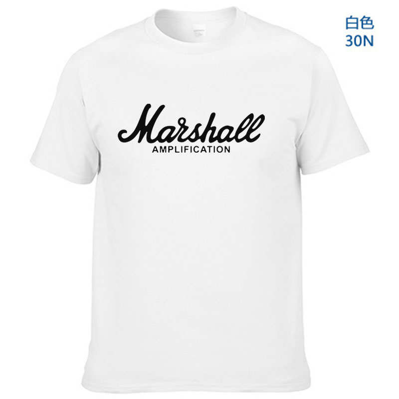 2018 hot sale summer 100% cotton Marshall t shirt men short sleeves tee hip hop streetwear for fans hipster XS-2XL
