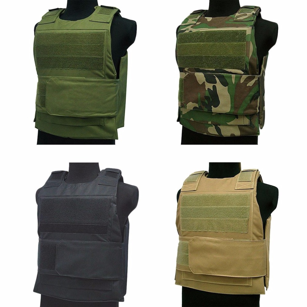 1PCS Labor Insurance Clothing Amphibious Battle Tactical Carrier Vest Molle Combat Assault Plate Protection Vest Camouflage