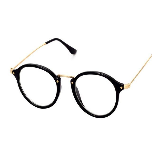9926f6e0df64 Oculos New Style Plain Glasses Women Men 2017 Luxury Circle Clear  Transparent Mirror Reading Glasses Gafas De Lectura Eyeglasses