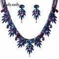 2016 nova vintage choker declaração de moda colar de novo luxo exagerado de cristal pedra colar tl95821