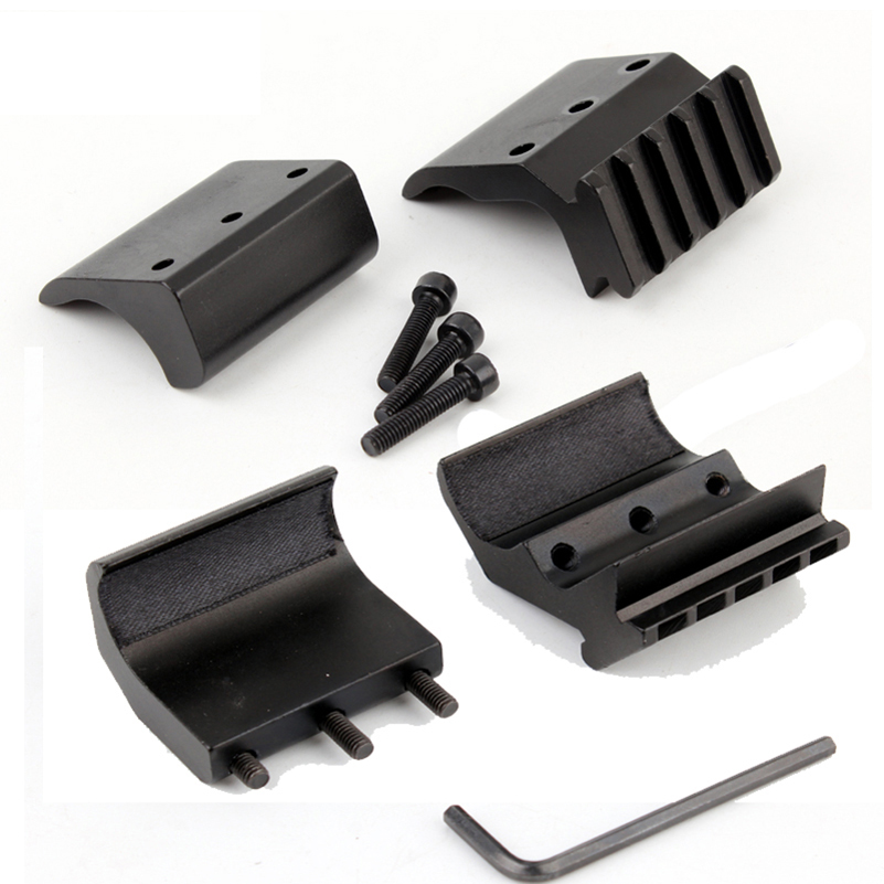 Image 5 - 1pc 2 Styles Single/Double Tube Shotgun Picatinny Rail Adaptor for 20mm Rail Mount Hunting Tactical Accessories-in Scope Mounts & Accessories from Sports & Entertainment