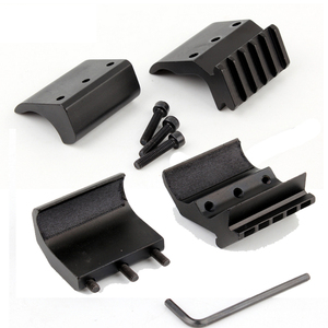 Image 5 - 1pc 2 Styles Single/Double Tube Shotgun Picatinny Rail Adaptor for 20mm Rail Mount Hunting Tactical Accessories