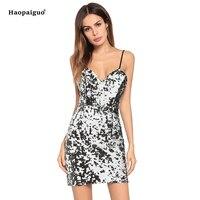Plus Size Sexy Mini Dress Club Wear for Ladies V neck Sleeveless Bodycon Bandage Dress Women Spaghetti Strap Pary Dress Women