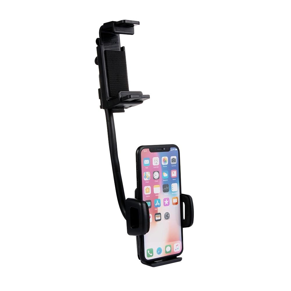1 Stück Auto Rückspiegel Halterung Halter Stehen Cradle Für Handy Gps Universal 360 Grad Drehen Auto Zubehör Flexible