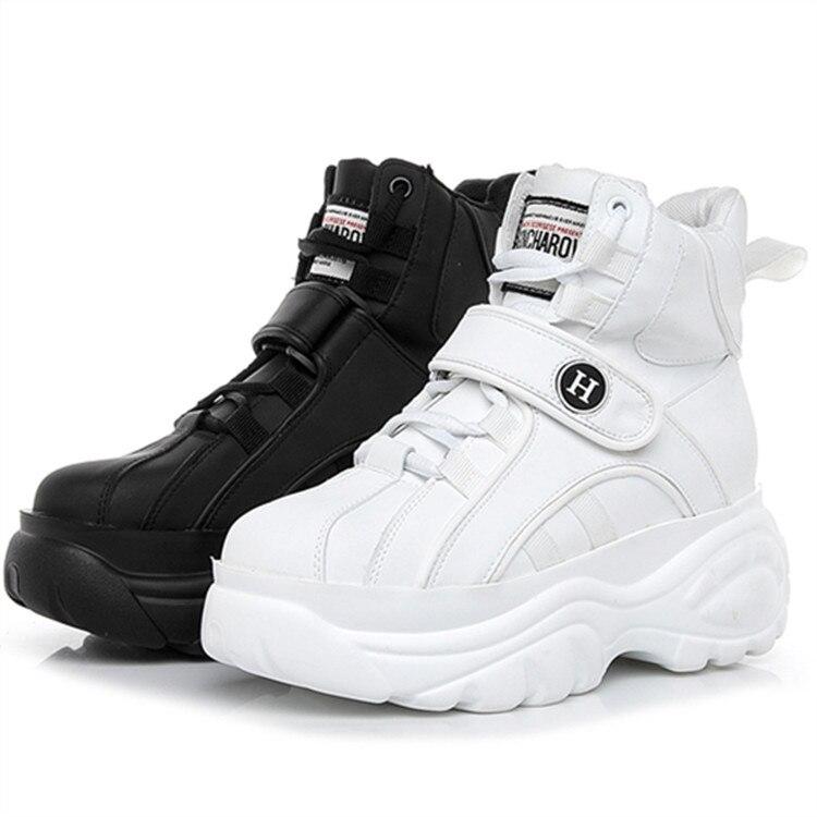 SWYIVY plate-forme baskets chaussures femme printemps nouveau 2019 haut haut femme décontracté blanc chaussures confortable Sneakes femme plat