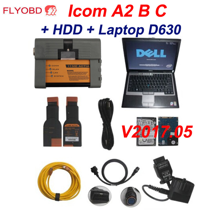 New 2018 12V For BMW ICOM A2+B+C Car Diagnostic & Programming Tool Software  ISTA 4 14 12 With Laptop