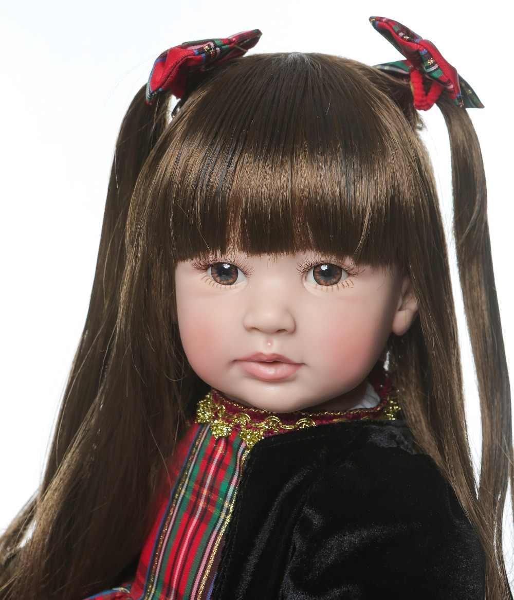 """60 см очень большой reborn """"Принцесса"""" для деток с года до трех ручной работы силиконовые винил очаровательны реалистичные детские Bonecas девочек bebe Кукла-младенец Реалистичная menina"""