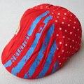 ¡ Venta caliente! 1 Unidades Al Por Menor Envío Libre Simple Diseño de La Raya Del Estilo Británico Sombrero del bebé Niño Tapa Para Niños Chica Beret Sombrero Del Cabrito H-005