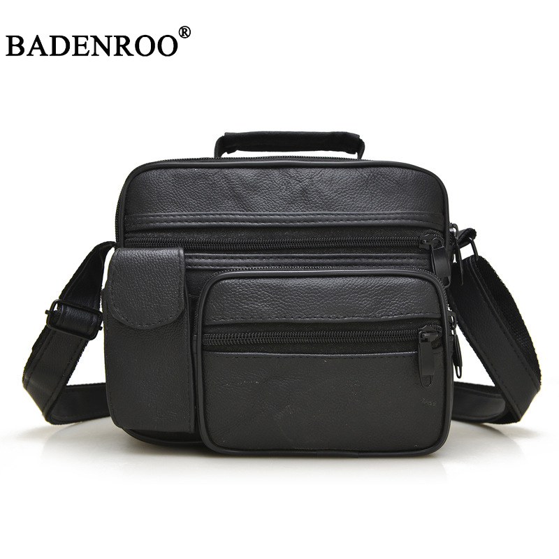 2018 New mens Business Packages Casual Shoulder Bag Messenger bags high quality pu leather Small Flap Solid color Man Satchels
