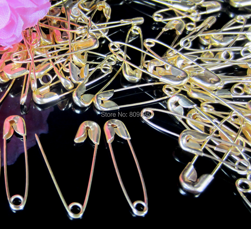 Free Shipping 500 Gold Small gold Safety Pins Findings Brooch/garment accessories 5 x 22mm