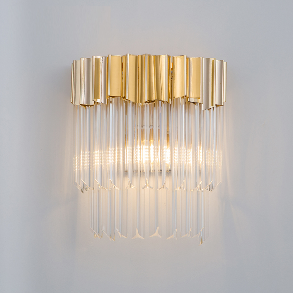 new design luxury wall lamp modern wall sconce AC110v 220v gold applique murale luminaire home lighting diameter 30cm