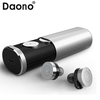 DAONO True Wireless Stereo Headset TWS B1 Wireless Bluetooth 4.1 Earbuds with Charging Socket Mini Stereo Earphone