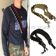 Tactical 2 Point Shotgun Sling 15 Round Shell Ammo Holder 12Ga Nylon Military Shotgun Shell Sling