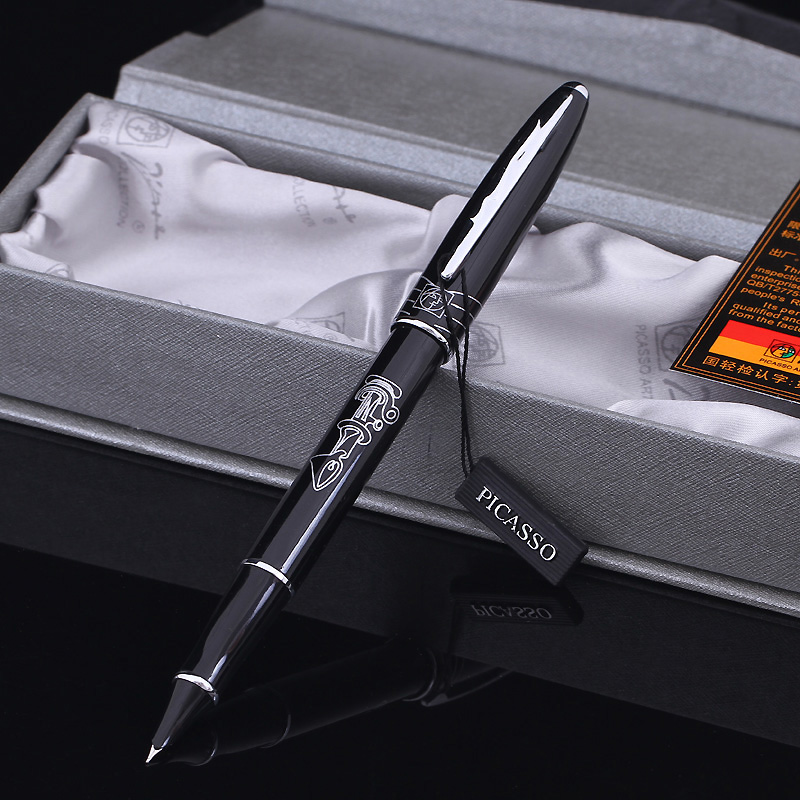 Picasso PS-606 financial pen calligraphy fountain pen ink pen 0.38mm picasso picasso ps 909 black gold fountain of spatiotemporal pen ink pen picas pen free shipping