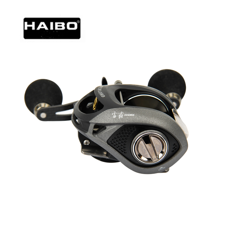 Grosse bobine de pêche Haibo Max glisser 8 kg Baitcasting bobine de pêche 8B + RB 5.4: 1/243G corps en alliage d'aluminium