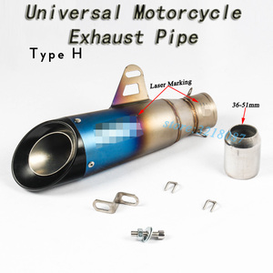 Image 3 - 51mm 61mm Universal Motorcycle Exhaust Pipe Escape Modified Motorbike Laser Marking Muffler For CBR1000RR S1000RR Ninja250 R6 R1