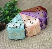 Hoa thanh lịch Cones Ủng Hộ Đám Cưới Hộp Quà Tặng cho Kẹo 50 cái Bao Bì Hộp Giấy Hôn Nhân Thanh Lịch Baby Shower Đảng Supplies