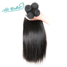 Hair Brazilian Straight Human Hair 1 Piece Hair Weave Bundles 10-28inch Natural Color Free Shipping Remy Hair