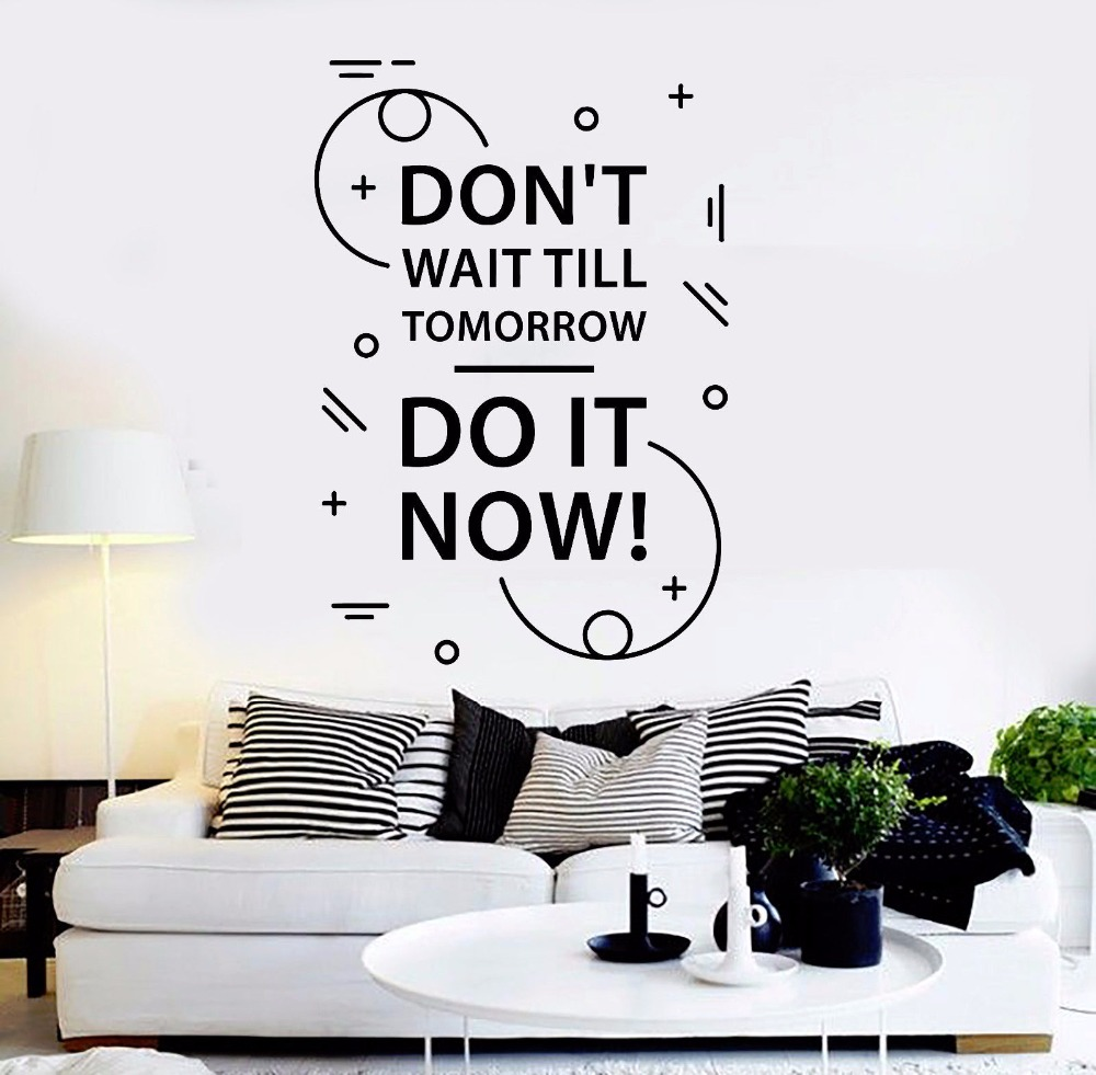 Motivation Words Removable Wall Decal Quotes for Office Nontoxic PVC Material Wall Stickers Inspire Home Interior Decor S018