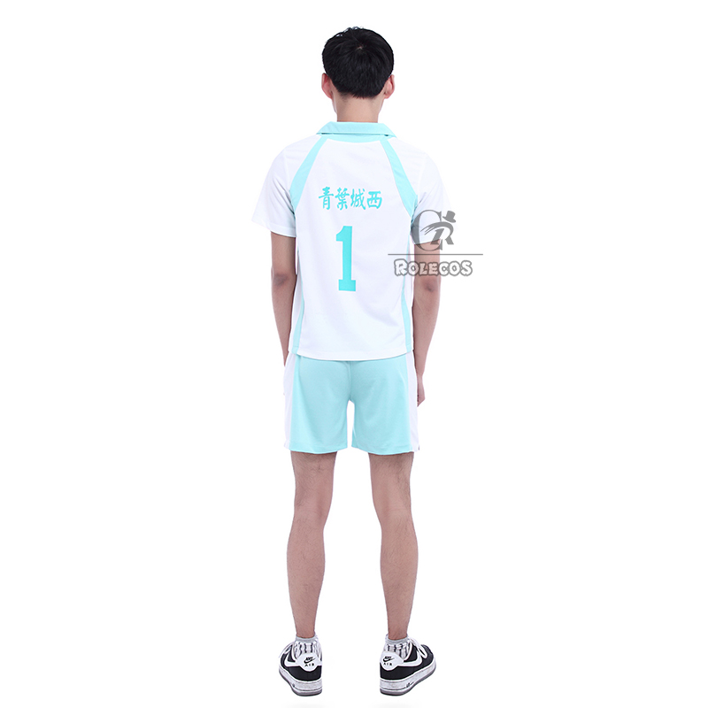 ROLECOS Brand New Anime Haikyuu Cosplay Costumes Aoba Jousai Oikawa Tooru Hajime Iwaizumi Cosplay Costumes volleyball Uniform