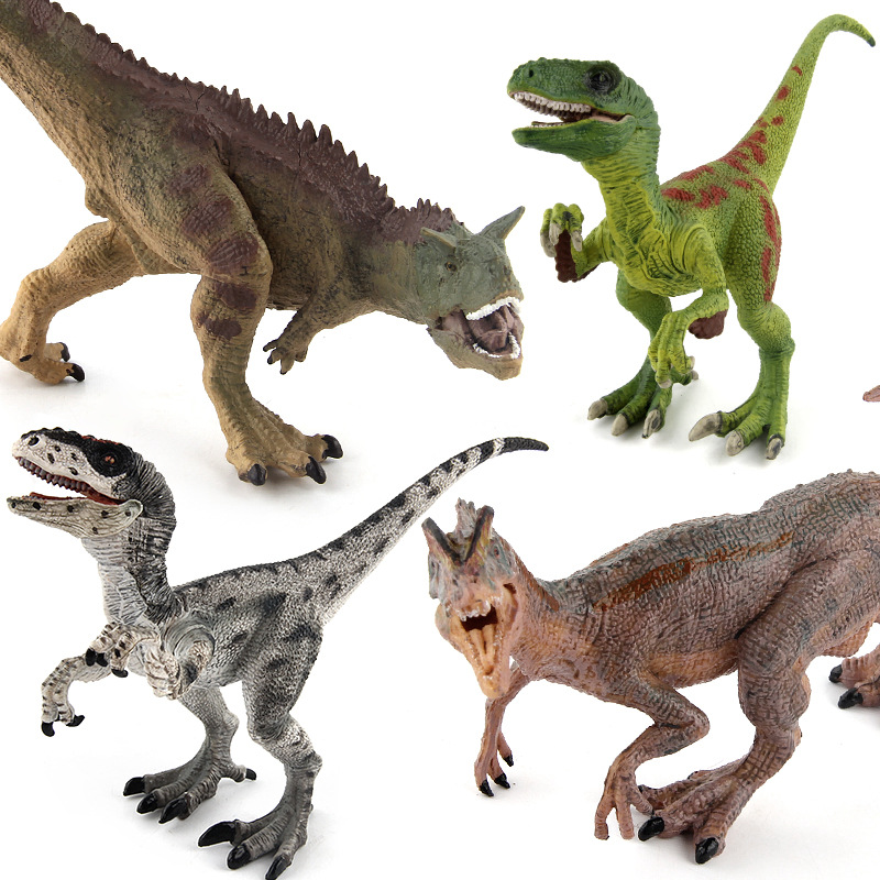 4Styles Action Figure Jurassic Velociraptor Dilophosaurus Carnotaurus 17cm Dolls Animal Collectible Model Furnishings Toy GifeF3 soccerwe dolls figurine football stars 17 18 7 c ronaldo movable joints resin model toy action figure dolls collectible gift
