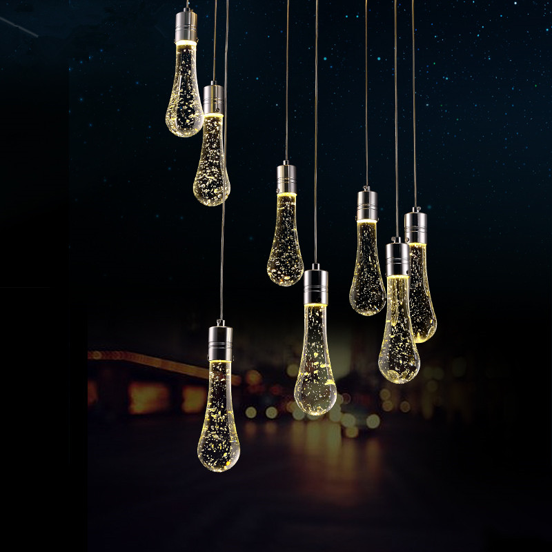 Creative Pendant Lights Modern LED Bubble Crystal Pendant