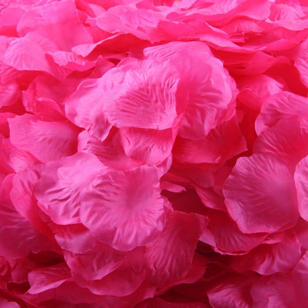 Wedding decoration 200pcs Silk Rose Petals Artificial Flower Wedding ...
