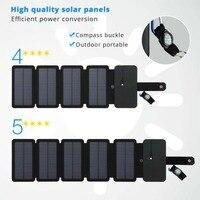 LERRONX Draagbare Zonnepanelen Oplader 10W 5V 2.1A Sunpower opvouwbare Zonnepaneel lading batterij voor mobiele telefoon outdoor camping