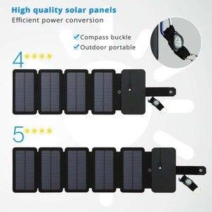 Image 1 - LERRONX المحمولة لوحة طاقة شمسية s شاحن 10 واط 5 فولت 2.1A Sunpower لوحة شمسية قابلة للطي تهمة بطارية للهاتف المحمول التخييم في الهواء الطلق