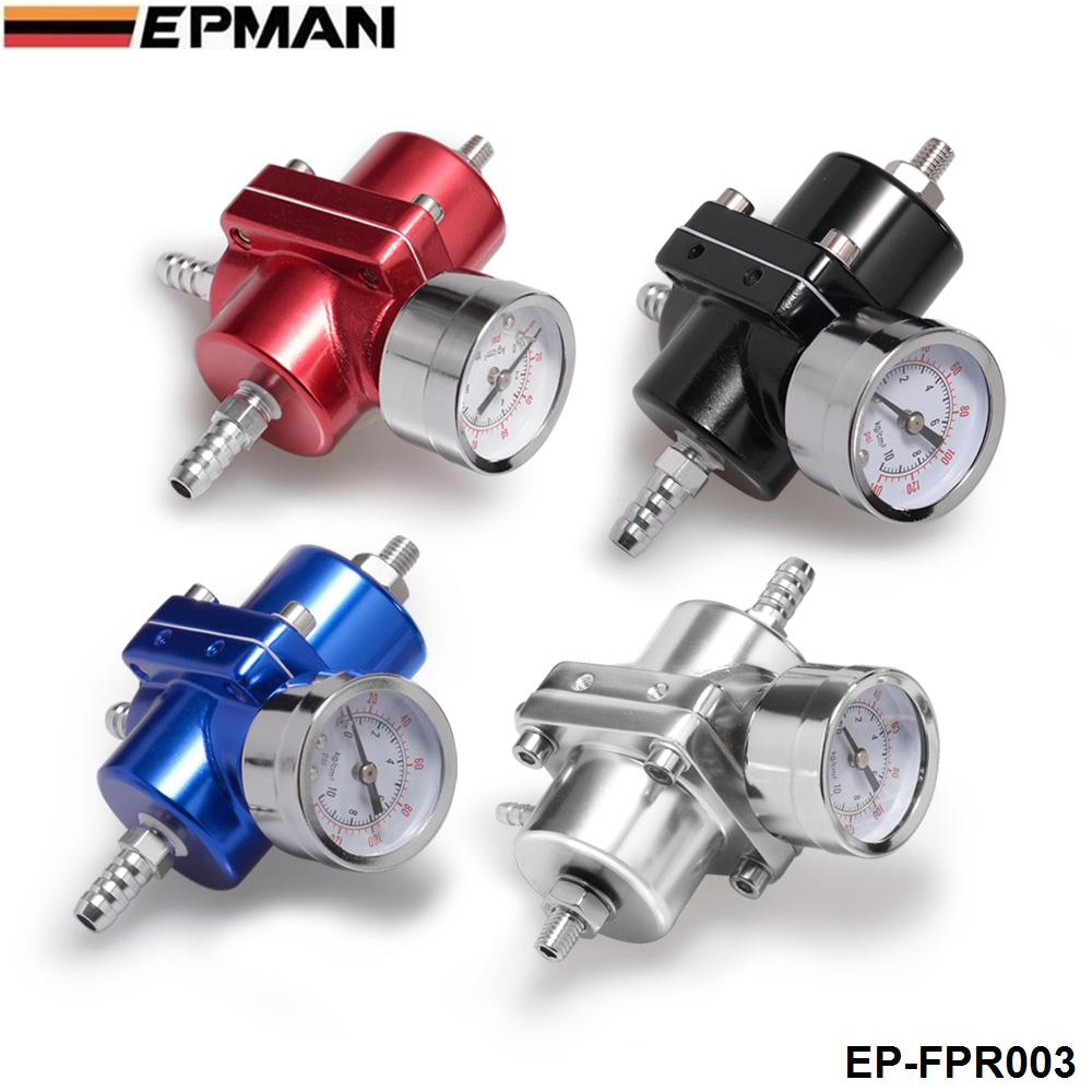 Jdm Universal 0-140 PSI Adjustable Fuel Pressure Regulator FPR /Gauge For BMW E39 5 series Facelift 2000-2003 EP-FPR003