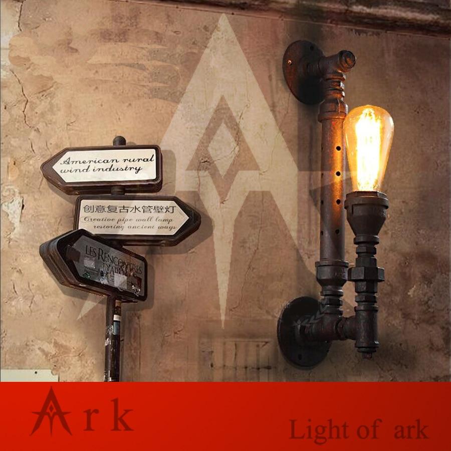 ark light Vintage Industrial Water Pipe Wall Lamps Loft Wall Light Bar Restaurant Wall Fixtures110V/220V Bedside Lighting X0024