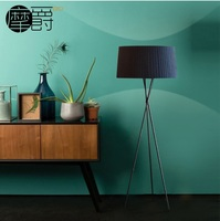 Tripod Floor Lamp in Black 170cm Height with 55cm Fabric Shades