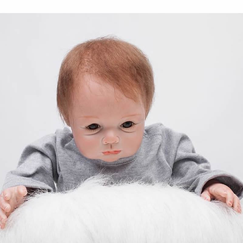 Truly Real Lifelike Reborn Baby Boy 22 Inch Silicone Realistic Babies Doll Cloth Body Toy With Hair Kids Birthday Xmas Gift