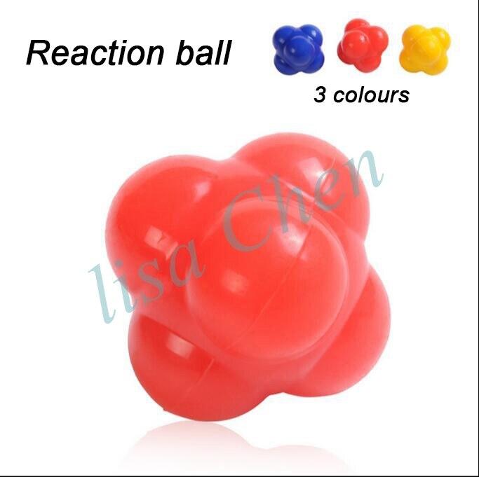 6.5cm Elastic Rubber Reaction Ball Agility Coordination Reflex Exercise Training Ball Fitness Basketball Tennis Response Speed