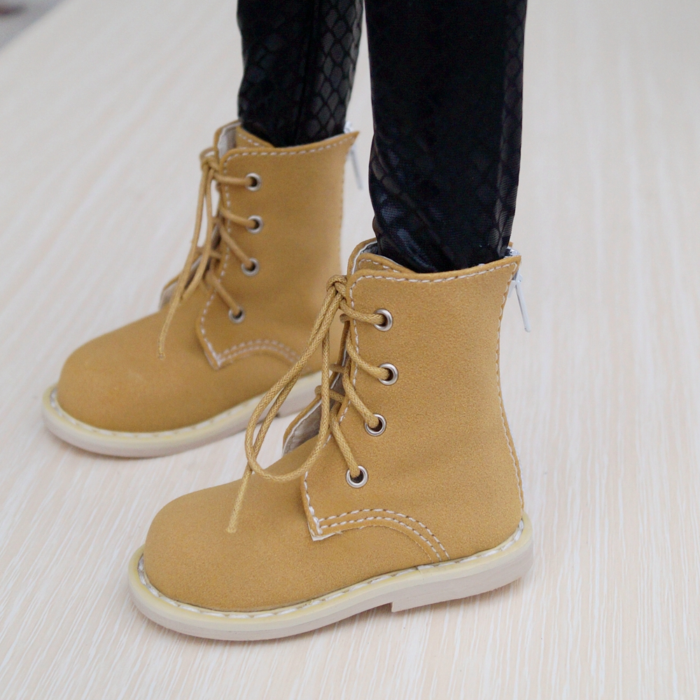 <font><b>BJD</b></font> SHOES Yellow-brown Synthetic Leather Short Boots Shoes For <font><b>1/3</b></font> 60cm 24