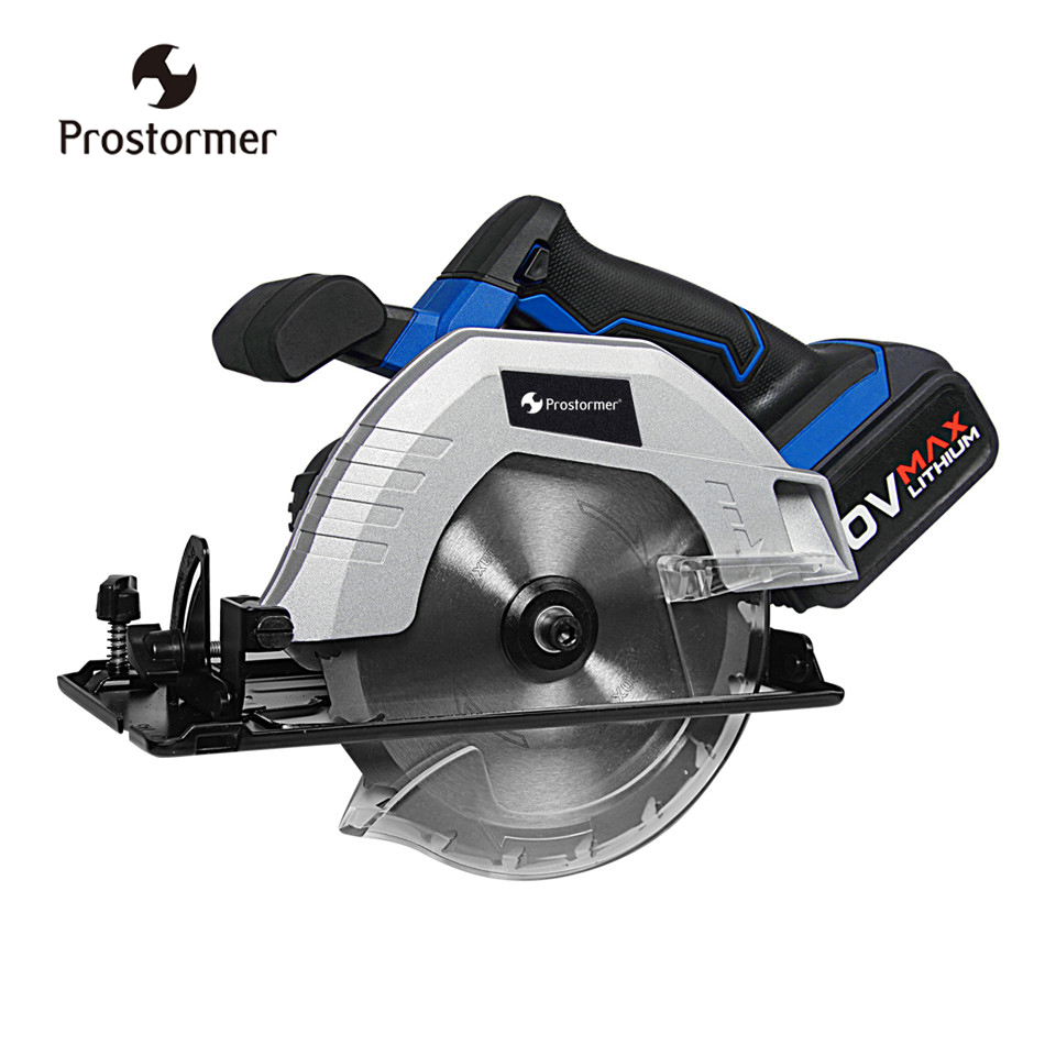 Prostormer 20V Cordless Circular Saw 165mm Electric Mini Woodworks Circular Saw 4000mAh li-ion battery 100-220V Fast Charger free shipping digital microscope microscopio usb endscope 600x usb 8 led magnifier camera andonstar adjustable