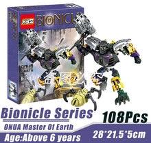 BionicleMask of Light XSZ 708-1 Children's Onua Master Of Earth Bionicle Building Block Minifigure Compatible with Legoe Toys