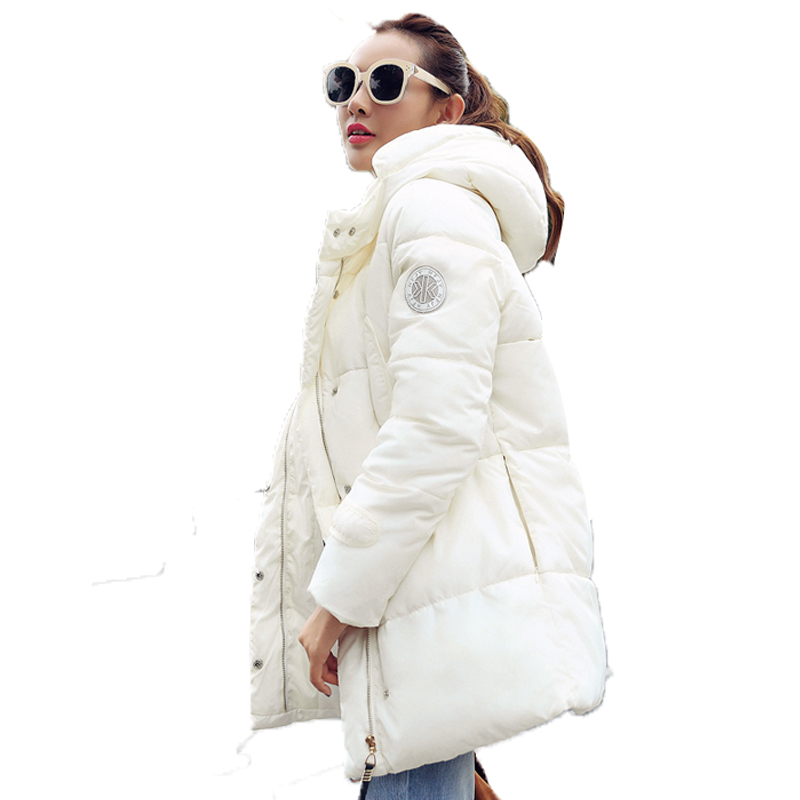 Popular White Winter Coats Women Thickening Hooded Jacket-Buy ...