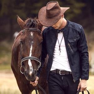 Image 5 - 2017 Mới, thắt lưng nam da bò đầu Full hạt thật 100% chính hãng da bò da quần jean mềm dây TM050
