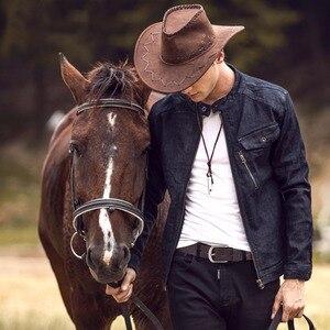 Image 5 - 2017 New men belt top full grain 100% real genuine cowskin leather soft jeans belt TM050