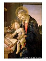 modern colorful paintings The Virgin Teaching the Infant Jesus to Read by Sandro Botticelli High Quality Hand painted