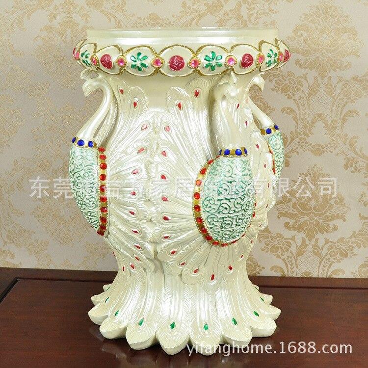 Tabouret de coiffeuse de paon de perle de style européen et américain changeant ses chaussures cadeaux de fête décoration de la maison