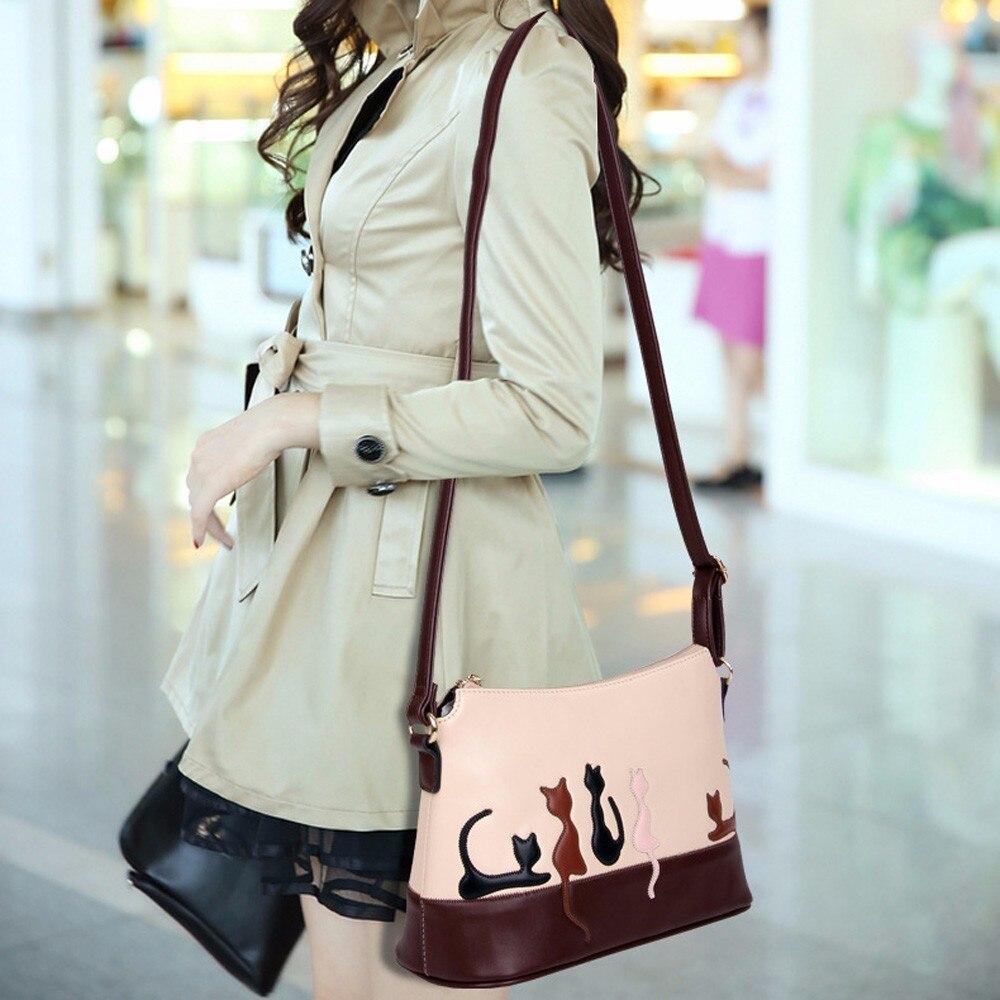 2018 new Daily Mini Women Leather Messenger Bag Small Shoulder Bag Lady Handbag purse Rabbit Cat Crossbody Bags Bolsos Mujer shoulder bag