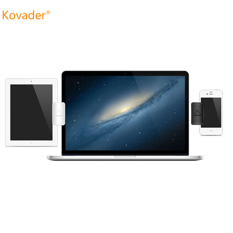 Kovader Dual Monitor Display Clip Stand Adjustable Multi-screen Bracket Tablet Laptop Phone Holder For iPad Multi Screen Support