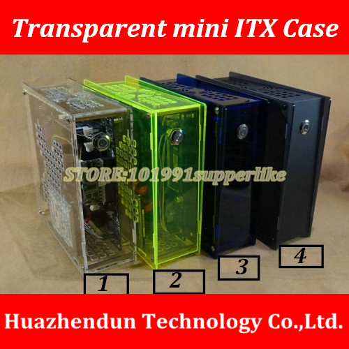 Simple transparent Mini-ITX Case Chassis HTPC computer case for Industrial control Motherboard